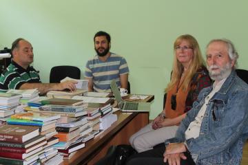 В ЧКЦ состоялась встреча с шведским кавказоведом, профессором Кариной Вамлинг и профессором Резо Чантуриа