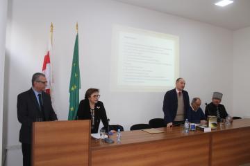 В ЧКЦ состоялась презентация новой книги черкесского общественного деятеля из Иордании Аделя Башкави